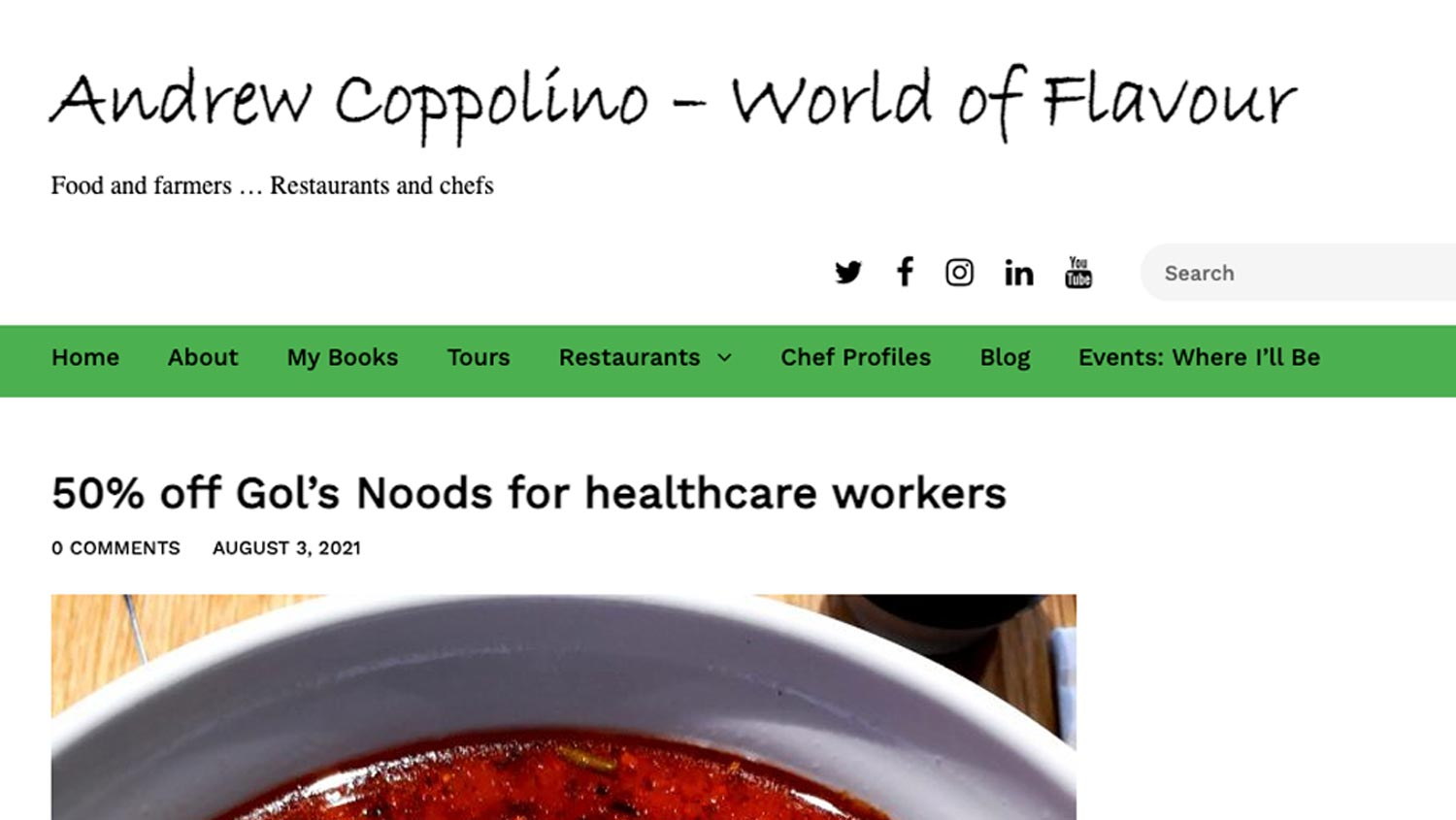 News Coverage from Andrew Coppolino — World of Flavour